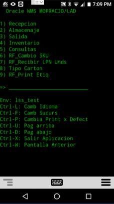 menú numérico, y comandos de Ctrl-letra en el menú OWMS