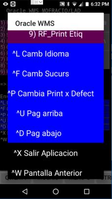Comandos Ctrl+letra convertidos a botones